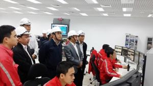 Thứ trưởng Lê Quang Hùng kiểm tra công trình Nhiệt điện Vũng Áng 1